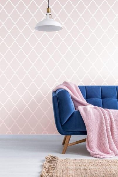 6-perete decorativ cu sablon decorativ model Royals StenCilit