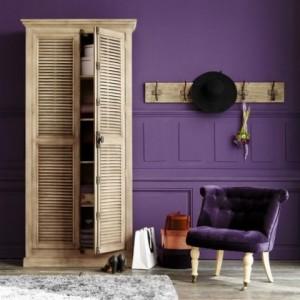 6-perete si fotoliu violet inchis decor Provence Lavandou dans une bastide