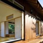 6-pereti glisanti perete exterior casa mica din lemn Coreea de Sud