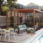6-pergola cu zona de relaxare si loc de luat masa langa piscina