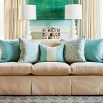6-pernute decorative in nuante de bleu decor living