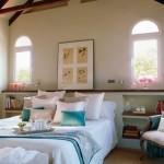 6-pernute decorative turcoaz pentru crearea senzatiei de racoare in dormitor