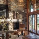 6-piatra naturala finisare living cu pardoseala din lemn