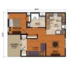 6-plan compartimentare interioare casuta din lemn Birchwood Cottage