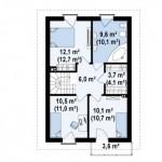 6-plan etaj casa mica cu mansarda si 4 dormtioare suprafata totala 110 mp