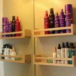 6-polite de baie pentru produse de igiena si styling din suporturi pentru condimente