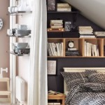6-polite pentru carti si decoratiuni pe peretele de la capul patului din dormitor