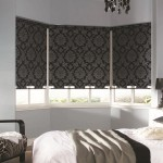 6-rolete textile imprimeu baroc decor ferestre dormitor modern in alb si negru