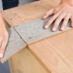 6-ruperea pe marginea mesei a bucatii de lemn crestate cu cutterul