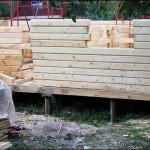 6-santier constructie casa ecologica din popi de lemn