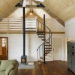 6-scara interioara compacta sctructura metalica trepte lemn pentru casa mica