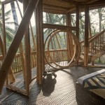 6-scara interioara din bambus casa complex Green Village Bali Indonesia