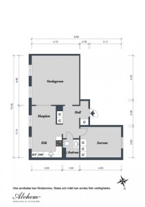 6 schita plan apartament doua camere