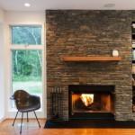 6-semineu placat cu piatra decorativa naturala living casa moderna modulara