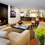 6-set canapea si fotoliu crem in amenajarea unui living modern cu accente vrede crud