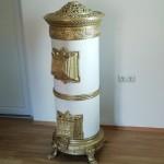 6-soba antica din fonta alb model alb cu auriu si elemente decorative pret 2500 lei