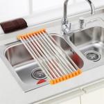 6-suport inox scurgere pentru chiuveta de bucatarie
