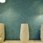 6-tapet lichid culoare albastra finisare pereti living