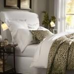 6-textile imprimeu leopard accent decorativ pat imbracat cu asternuturi albe
