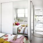 6-textile rosii si galben mustar in decorul dormitorului alb modern