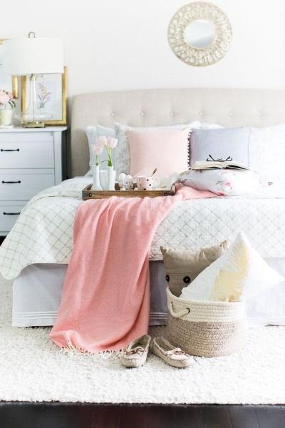 6-textile si decoratiuni de primavara amenajare dormitor