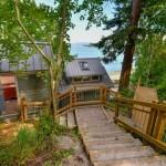 6-trepte acces baie si casa de vacanta de pe Insula Lummi