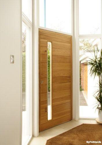 usa lemn exterior design modern cu geam