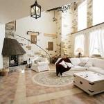 6-varianta finisare cu piatra naturala pereti living mare stil rustic
