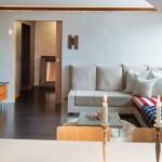 6-vedere din bucatarie spre living open space apartament modern mansarda
