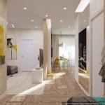 6-vedere din holul de acces al apartamentului obtinut dupa reconfigurare garsoniera