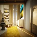 6-vedere spre fereastra dormitorului de 10 mp cu scara interioara