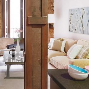 6-vedere spre living open space garsoniera moderna 35 mp