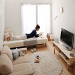 6-zona-de-conversatie-in-fata-tv-si-dormitor-intr-o-garsoniera-mica