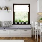 6-zona de relaxare cu bancuta in fata TV-ului din bucatarie design Manuel Saliche