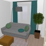 6-zona de relaxare in fata tv sugestie amenajare camera de 14 mp garsoniera