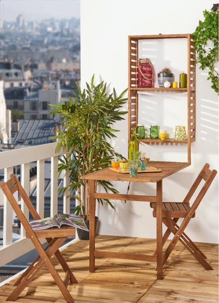 3 piese balcon masa rabatabila scaune Carrefour