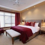 7-accesorii textile culoare Marsala in decorul dormitorului