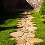 7-alee ecologica gradina din lemn si margaritar