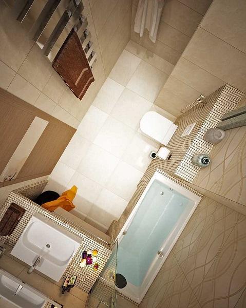 7-amenajare baie moderna finisata in crem si bej
