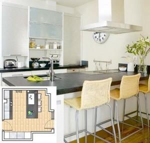 7-amenajare bucatarie moderna de 14 mp cu insula