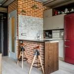 7-amenajare bucatarie moderna stil loft vintage in regim open space