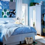 7-amenajare dormitor in albastru si alb stil maritim