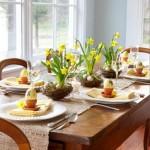 7-aranjament decorativ masa de Pasti galben si vernil