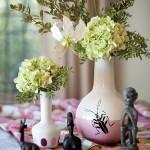 7-aranjament floral decorativ hortensii loc de luat masa