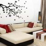7-autocolant decorativ cranga copac perete living modern
