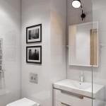 7-baie alba mica cu mobila si obiecte sanitare suspendate pentru economia spatiului