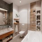 7-baie mica apartament dotata cu cada amenajata in alb gri si bej