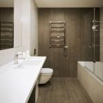 7-baie moderna finisata cu gresie si faianta ce imita lemnul