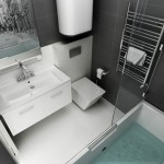 7-baie moderna finisata in alb si gri antracit design Maria Grom