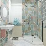 7-baie moderna mica cu faianta stil patchwork